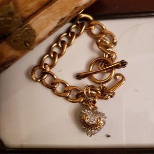 JUICY COUTURE HEAVY GOLD Signature charm BRACELET